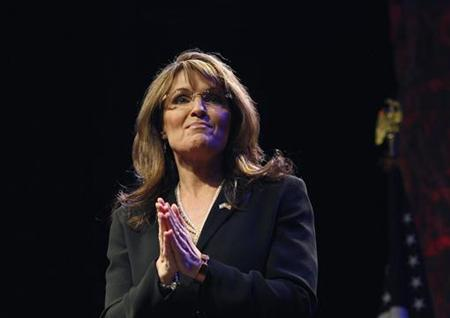 Sarah Palin speaks during the National Tea Party Convention at Gaylord Opryland Hotel in Nashville, February 6, 2010. REUTERS/Josh Anderson