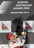 <p>Atual campeão mundial de Fórmula 1, o piloto britânico Jenson Button, da McLaren, venceu em um chuvoso Grande Prêmio da Austrália neste domingo. 28/03/2010 REUTERS/Mick Tsikas</p>