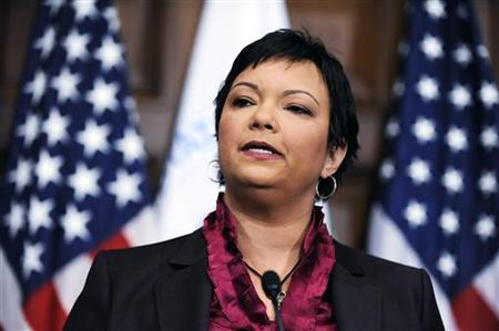 Environmental Protection Agency Director Lisa Jackson in Washington, December 7, 2009. REUTERS/Jonathan Ernst