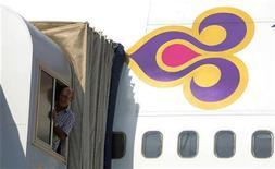 <p>Un aereo delle linee aereee thailandesi Thai Airways. REUTERS/Chaiwat Subprasom</p>
