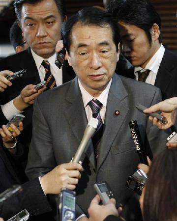 4月12日、菅財務相は、デフレ脱却には、お金の循環が「重要なポイント」と述べた。9日撮影(2010年 ロイター/Issei Kato)