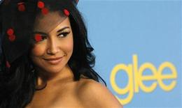 "<p>Cast member Naya Rivera poses at a party to celebrate the premiere of the second season of the television series ""Glee"" in Los Angeles April 12, 2010. REUTERS/Mario Anzuoni</p>"