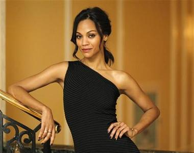 Actress Zoe Saldana, who stars in the movie ''The Losers'', poses for a portrait in Beverly Hills, California April 9, 2010. REUTERS/Mario Anzuoni