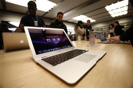 The MacBook Air is displayed at the Apple Store in New York February 1, 2008. REUTERS/Shannon Stapleton