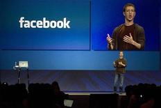 <p>Mark Zuckerberg, fondatore di Facebook, alla conferenza annuale della società a San Francisco REUTERS/Kimberly White</p>