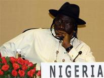 "<p>Nigeria's Acting President Goodluck Jonathan attends the ""India-Africa Forum Summit 2008"" in New Delhi, April 9, 2008. REUTERS/B Mathur</p>"