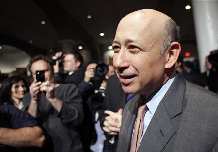 Goldman Sachs Chief Executive Officer Lloyd Blankfein attends a speech by U.S. President Barack Obama about Wall Street reform at Cooper Union in New York April 22, 2010. REUTERS/Natalie Behring