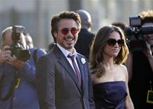 "<p>Cast member Robert Downey Jr. and his wife Susan arrive at the premiere of the movie ""Iron Man 2"" at El Capitan theatre in Hollywood, California April 26, 2010. The movie opens in the U.S. on May 7. REUTERS/Mario Anzuoni</p>"