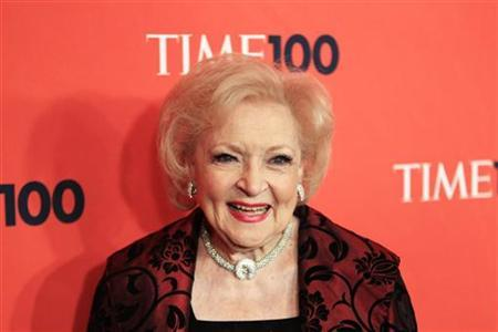 Actress Betty White arrives as a guest for the ''Time Magazine's 100 Most Influential People in the World'' gala in New York May 4, 2010. REUTERS/Lucas Jackson