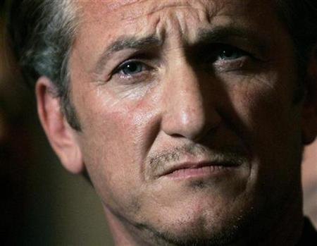 Academy Award winning actor Sean Penn listens during a news conference in San Francisco, California March 3, 2009. REUTERS/Robert Galbraith