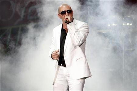 Cuban-American rapper Pitbull performs at the 2008 Wango Tango concert in Irvine, California, May 10, 2008. REUTERS/Mario Anzuoni
