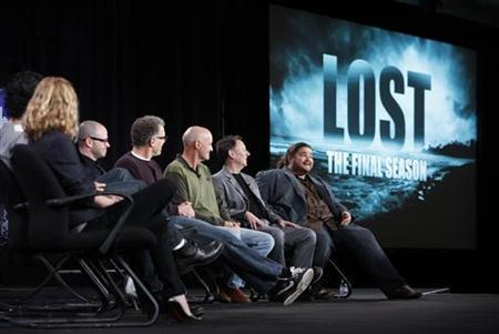 (L-R) Cast member Emilie de Ravin, co-creator and executive producer Damon Lindelof, executive producer Carlton Cuse, and cast members Terry O'Quinn, Michael Emerson and Jorge Garcia of the series ''Lost'' participate in a panel discussion about the show's final season at the Disney ABC winter 2010 Television Critics Association press tour in Pasadena, California, January 12, 2010. REUTERS/Danny Moloshok