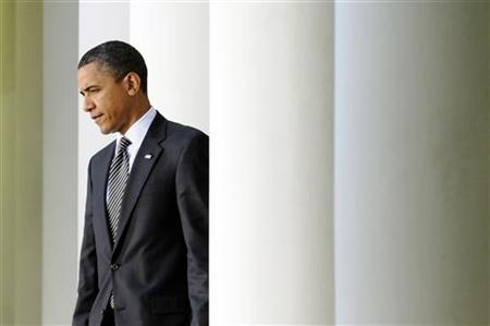 President Barack Obama walks to his lectern to make a statement on Wall Street reform in the Rose Garden at the White House in Washington in this May 20, 2010 file photo. REUTERS/Jonathan Ernst