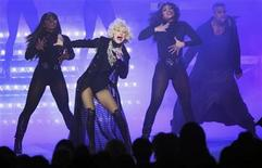 "<p>Singer Christina Aguilera performs during a special live broadcast of ""Oprah"" at Radio City Music Hall in celebration of O Magazine's 10th anniversary in New York City in this May 7, 2010 photo. REUTERS/Lucas Jackson</p>"