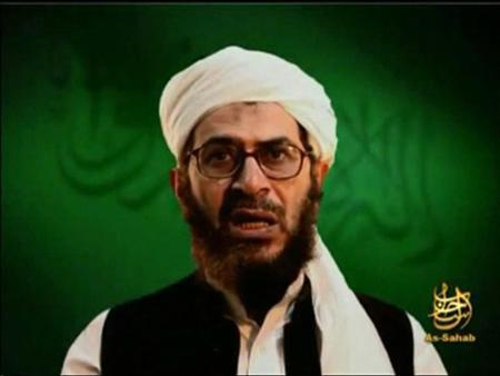 A file video grab of an undated footage from the Internet shows Al Qaeda leader in Afghanistan Mustafa abu al-Yazid, also known as Sheikh Sa'id al-Masri, making statements from an unknown location. REUTERS/REUTERS TV/Files