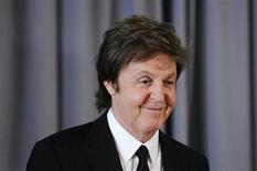 <p>Paul McCartney smiles at a reporter during a news conference introducing him as the winner of the Gershwin Prize for Popular Song at the Library of Congress in Washington, June 1, 2010. REUTERS/Jonathan Ernst</p>