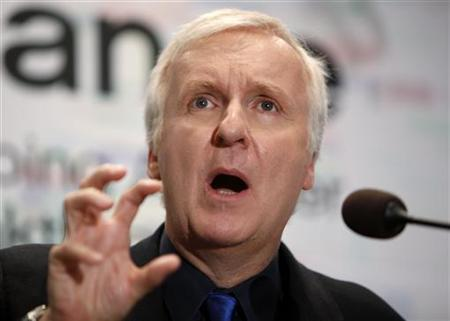Film director and Lightstorm Entertainment Chairman James Cameron answers a reporter's question during a news conference after he delivered a keynote address titled ''Renaissance now in imagination and technology'' at the Seoul Digital Forum 2010 May 13, 2010. REUTERS/Jo Yong-Hak