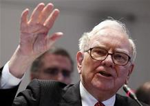 <p>Warren E. Buffett ,Chairman and Chief Executive Officer of Berkshire Hathaway, testifies before the Financial Crisis Inquiry Commission during a public hearing in New York, June 2, 2010. REUTERS/Shannon Stapleton</p>
