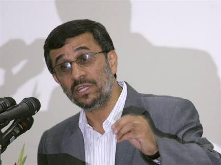 Iranian President Mahmoud Ahmadinejad speaks in Dushanbe, June 9, 2010. REUTERS/Nozim Kalandarov