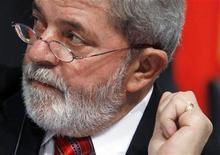 <p>Imagen de archivo del presidente de Brasil, Luiz Inácio Lula da Silva, durante una ceremonia en Madrid. Mayo 18 2010. REUTERS/Susana Vera /ARCHIVO</p>