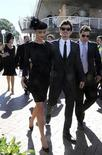 <p>Actor Orlando Bloom and his girlfriend, Australian actress and top model Miranda Kerr, arrive for Doncaster Day at the Royal Randwick Racecourse in Sydney in this April 26, 2008 file photo. REUTERS/Patrick Riviere</p>