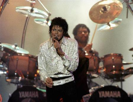 Michael Jackson performs during a Victory Tour concert in Toronto, in this October 5, 1984 file photo. REUTERS/Gary Hershorn/Files/Files