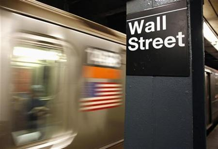 A Wall Street subway stop sign is seen in New York October 10, 2008. REUTERS/Shannon Stapleton