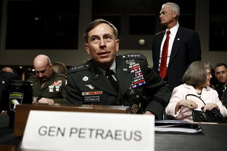 U.S. General David Petraeus testifies before the Senate armed services committee during his confirmation hearing to become commander of U.S. forces in Afghanistan on Capitol Hill in Washington June 29, 2010. REUTERS/Kevin Lamarque