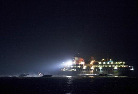 One of six ships bound for Gaza is seen in the Mediterranean Sea, May 31, 2010. REUTERS/Uriel Sinai/Pool