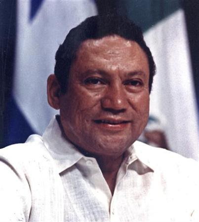 Panamanian strongman Manuel Antonio Noriega takes part in a news conference at the Atlapa center in this file photo in Panama City October 11,1998. REUTERS/Alberto Lowe