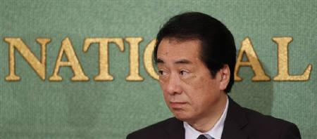 Japan's Prime Minister Naoto Kan participates in a debate with the heads of eight other political parties ahead of the July 11 elections in Tokyo June 22, 2010. REUTERS/Issei Kato