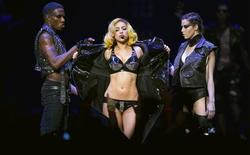 <p>Lady Gaga performs at Madison Square Garden during a stop on her Monster Ball Tour in New York July 7, 2010. REUTERS/Lucas Jackson</p>
