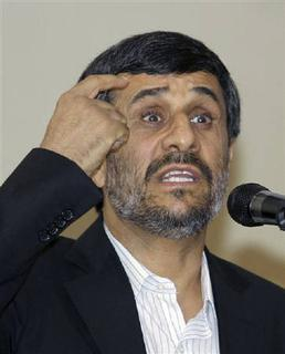 Iran's President Mahmoud Ahmadinejad speaks at news conference in Nigeria's capital Abuja July 8, 2010. REUTERS/Afolabi Sotunde