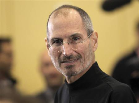 File photo of Apple CEO Steve Jobs leaves the stage after unveiling the iPhone 4 during the Apple Worldwide Developers Conference in San Francisco, California, June 7, 2010. obs was a no-show at an annual pow-wow of media and technology moguls in Sun Valley. But he was far from forgotten. REUTERS/Robert Galraith/Files