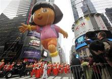 <p>A Dora the Explorer balloon makes its way across 4nd street during the Macy's Thanksgiving Day Parade in New York, November 26, 2009. REUTERS/Shannon Stapleton</p>