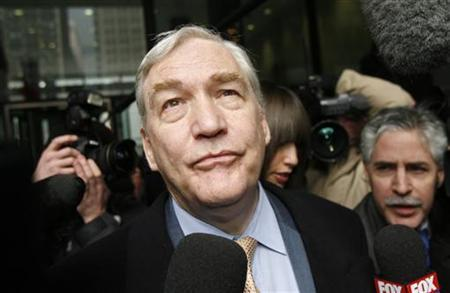 Former media baron Conrad Black leaves the Dirksen Federal Courthouse after his sentencing hearing in Chicago, in this December 10, 2007 file photo. REUTERS/John Gress