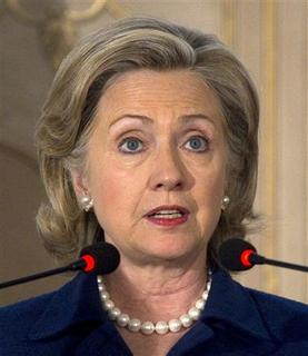 U.S. Secretary of State Hillary Clinton speaks during a joint news conference with Pakistan's Foreign Minister Shah Mehmood Qureshi in Islamabad on July 19, 2010. REUTERS/Adrees Latif
