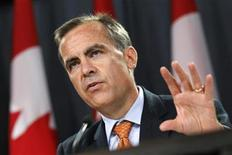 <p>Bank of Canada Governor Mark Carney speaks during a news conference upon the release of the Monetary Policy Report in Ottawa July 22, 2010. REUTERS/Chris Wattie</p>