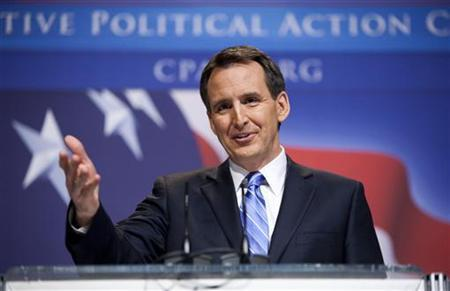 Governor Tim Pawlenty, a Republican from Minnesota, speaks to the Conservative Political Action Conference (CPAC) during their annual meeting in Washington, February 19, 2010. REUTERS/Joshua Roberts
