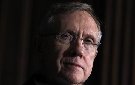 Senate Majority leader Harry Reid (D-NV) listens to remarks in Washington, March 25, 2010. REUTERS/Jim Young