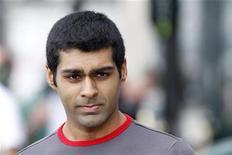 <p>Piloto da Fórmula 1, Karun Chandhok, durante sessão de treino do GP do Canadá em junho. O piloto indiano foi afastado pela equipe Hispania após a corrida no último final de semana na Alemanha e ficará de fora do GP da Hungria, no domingo 12/06/2010 REUTERS/Mathieu Belanger</p>