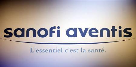 Logo of the French drugs group Sanofi Aventis company seen at the shareholder's meeting in Paris April 17, 2009. REUTERS/Charles Platiau/Files