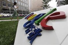 <p>Foto de archivo del logo de Google en su sede de Pekín, jul 12 2010. Los servicios de búsquedas por internet y móviles de Google en China estaban completamente bloqueados el jueves, según un mensaje publicado en el sitio de internet de la empresa. REUTERS/Jason Lee</p>
