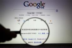 <p>L'indisponibilité du moteur de recherche Google et de ses services distribués sur les téléphones mobiles constatée jeudi en Chine pourrait être le fruit d'un incident technique, selon l'entreprise américaine. /Photo d'archives/REUTERS</p>