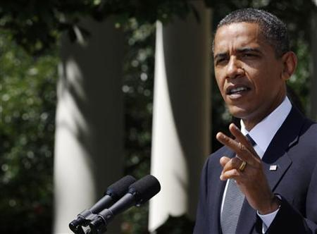 President Barack Obama speaks about the economy in the Rose Garden of the White House in Washington July 19, 2010. REUTERS/Larry Downing
