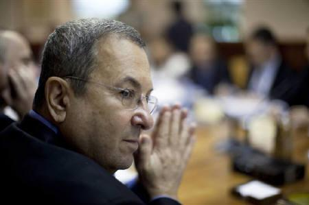 Israel's Defence Minister Ehud Barak attends the weekly cabinet meeting in Jerusalem June 13, 2010. REUTERS/Uriel Sinai/Pool