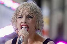 """<p>A cantora Lady Gaga se apresenta no programa """"Today"""", da NBC, em Nova York, 9 de julho de 2010. Gaga recebeu 13 indicações ao VMA nesta terça-feira, 3 de agosto. REUTERS/Lucas Jackson</p>"""