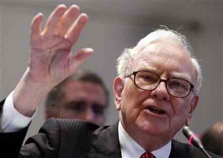 Warren E. Buffett ,Chairman and Chief Executive Officer of Berkshire Hathaway, testifies before the Financial Crisis Inquiry Commission during a public hearing in New York, June 2, 2010. REUTERS/Shannon Stapleton