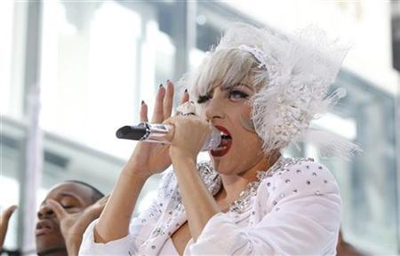 Singer Lady Gaga performs on NBC's ''Today'' show in New York, July 9, 2010. REUTERS/Lucas Jackson
