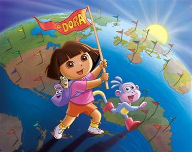 The animated character Dora the Explorer and her friend Boots the Monkey are shown in this undated publicity photo released to Reuters August 5, 2010. REUTERS/Nickelodeon Network/Handout